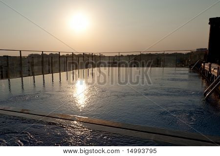 Hotel Pool Sunset
