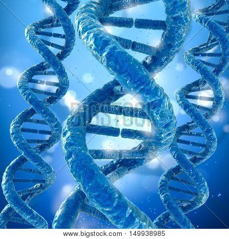 DNA molecule concept Medical accurate 3D illustration