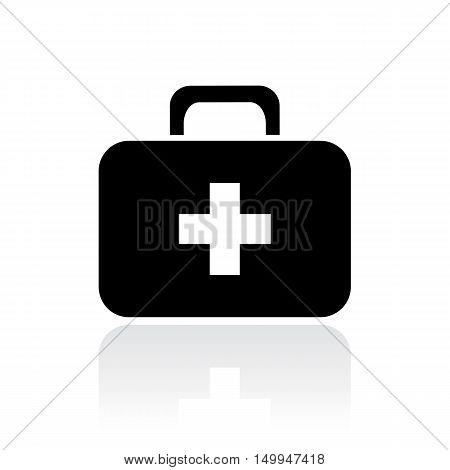 Doctor first aid case vector illustration isolated on white background