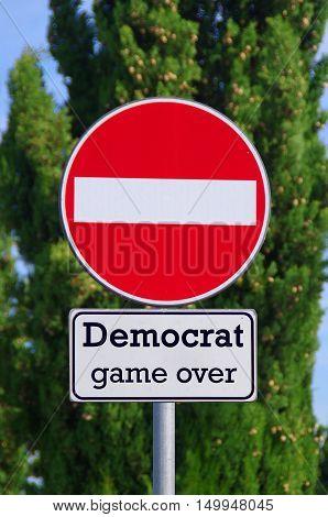 Democrat, Stop Here