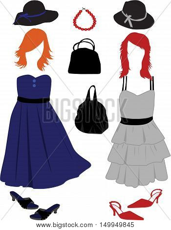 Women's fashion - clothes hairstyles and accessories