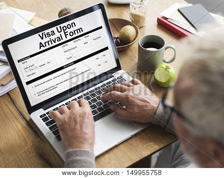 Senior Visa Application Form Concept