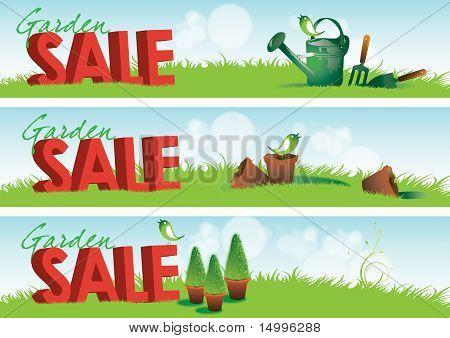 Garden Sale Banners