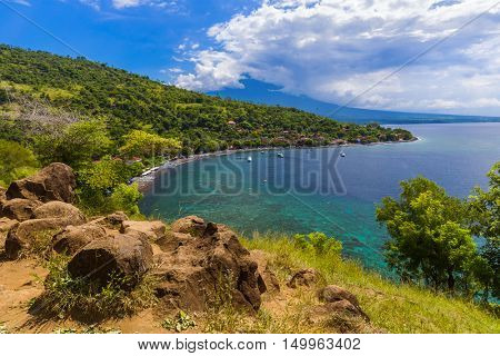Amed Beach - Bali Island Indonesia - nature travel background