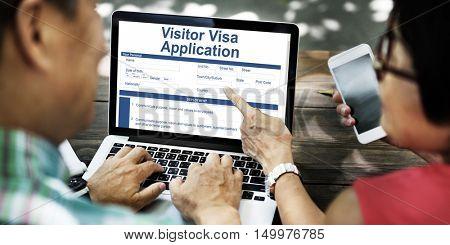 People Visa Application Form Concept