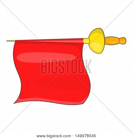 Matador red fabric icon in cartoon style isolated on white background vector illustration