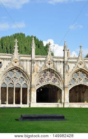 Cloisters of Canterbury Cathedral kent england uk