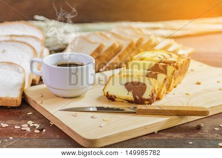 Butter Cake And Coffee