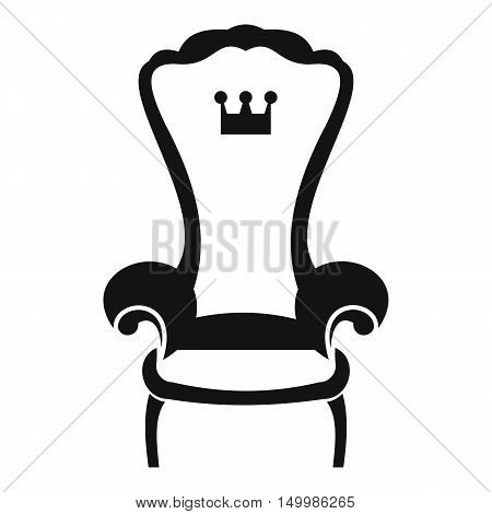 King throne chair icon in simple style on a white background vector illustration