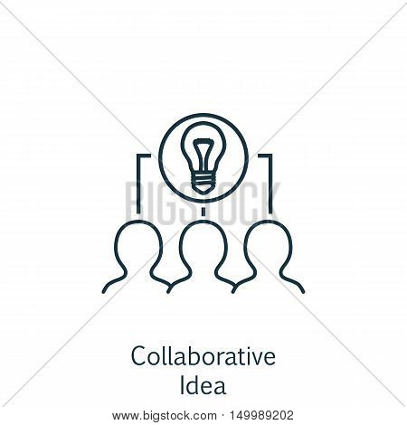 Vector Illustration Of Business Icon On Collaborative Idea In Trendy Flat Style. Business Isolated I