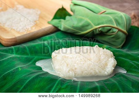 Kaomark, Sweetmeat Consisting Of Fermented Glutinous Rice.