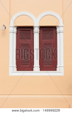 Two windows in Neo-Gothic style in Thailand
