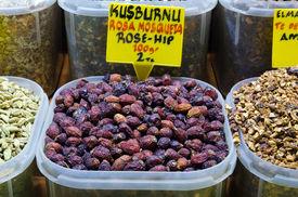 Rosehip Tea In Egyptian Spice Bazaar