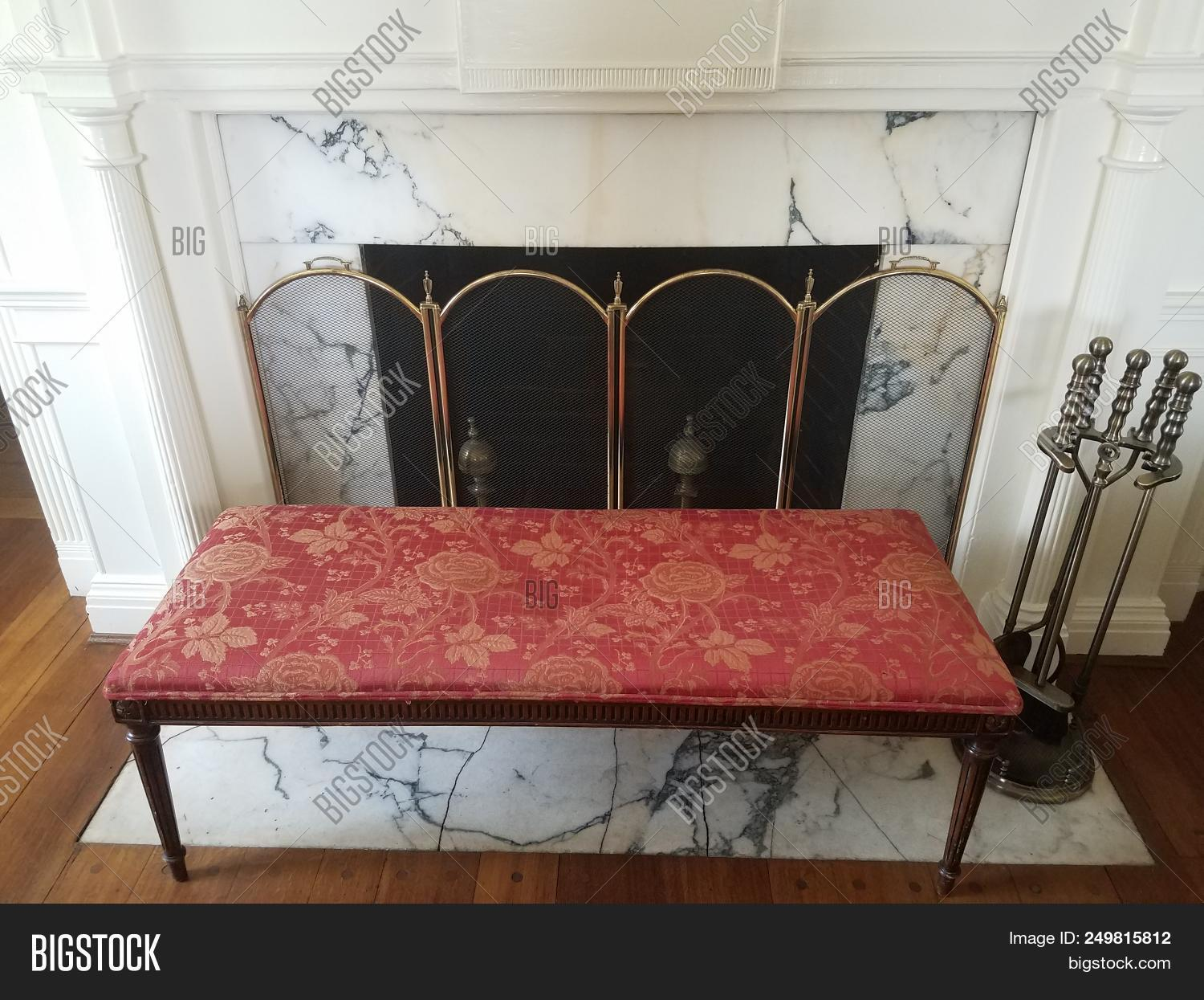 Fine Red Bench Seat Near Image Photo Free Trial Bigstock Gmtry Best Dining Table And Chair Ideas Images Gmtryco