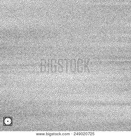 Wavy Background. Black And White Grainy Design. Stippling Effect. Vector Illustration.
