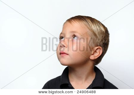 Boy Looking Up and Left