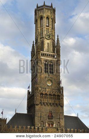 Belfort Tower Bruges HDR