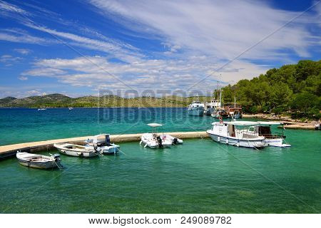 Boats In Nature Park Telascica. Dugi Otok Island, Croatia.