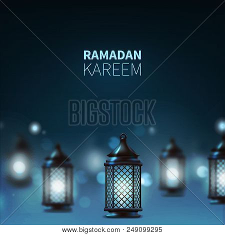 Vector Illustration Ramadan Background. Templates For Placards Banners Flyers Presentations Reports.