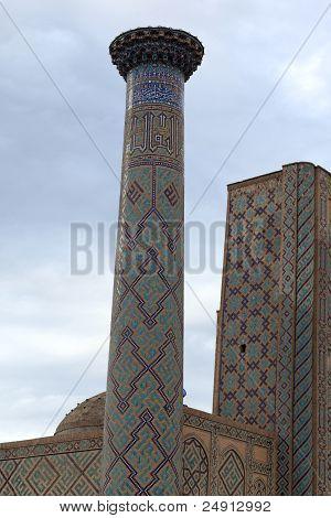 Minaret Of Madrasa Of Ulugh Beg In Samarkand
