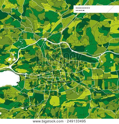 Colorful Map Of Klagenfurt, Austria. Background Version For Infographic And Marketing Projects. This