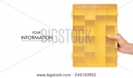 Organizer For Build Tools In Hand Pattern On White Background Isolation
