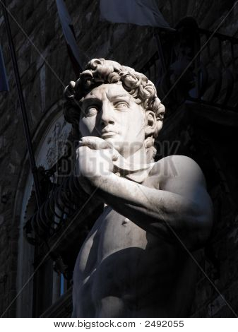 David Statue By Michelangelo In Florence Italy