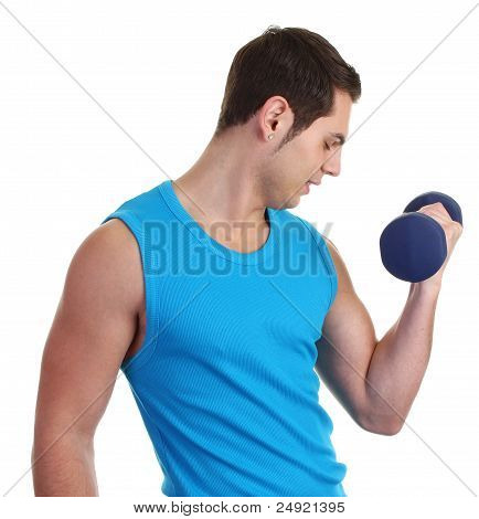 A Guy With A Dumbell