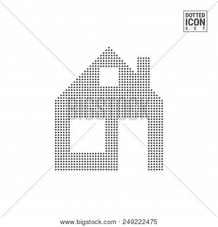 Home Dot Pattern Icon Vector Photo Free Trial Bigstock