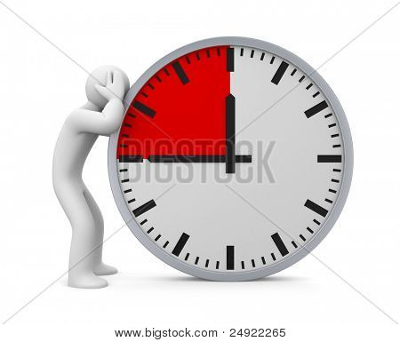 Deadline. Image contain clipping path