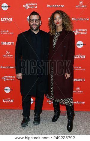PARK CITY, UT-JAN 21: Anthony Mandler (L) and Denise Vasi attend the