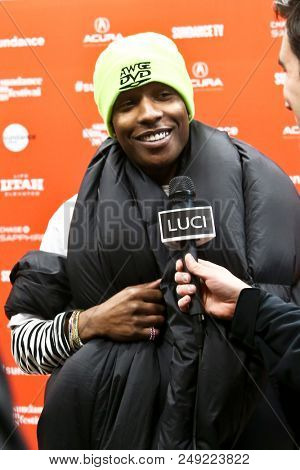 PARK CITY, UT-JAN 21: AsAP Rocky attends the