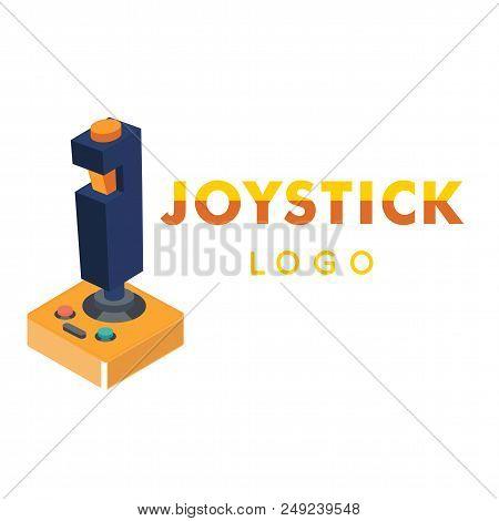 Joystick Logo Retro Joystick Background Vector Image