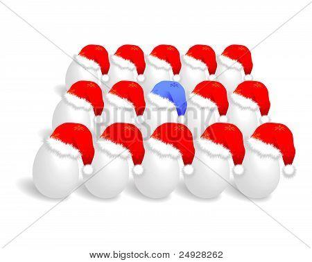 Santa cap over eggs