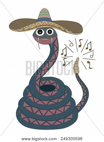 A Blue Rattlesnake In A Sombrero Plays Music