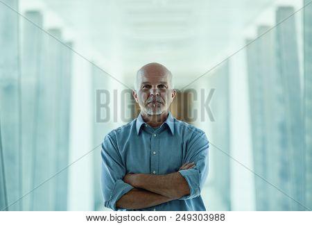 Senior Man Facing The Future