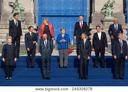 Group Photo Of Participants Of The Nato Military Alliance Summit