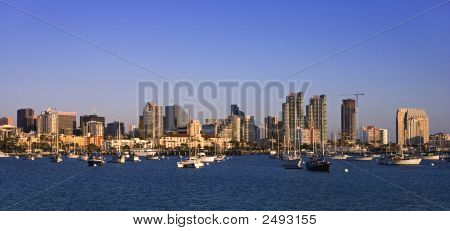 San Diego Harbour In Late Afternoon