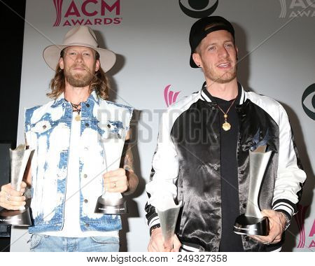 LAS VEGAS - APR 2:  Brian Kelley, Tyler Hubbard, Florida Georgia Line at the Academy of Country Music Awards 2017 at T-Mobile Arena on April 2, 2017 in Las Vegas, NV