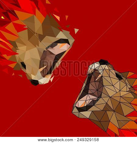 Isolated Low Poly Vector & Photo (Free Trial) | Bigstock