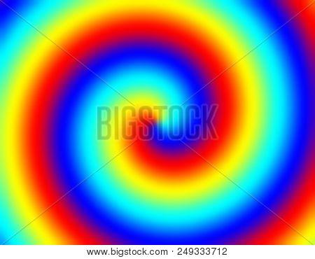 Twisted rainbow background