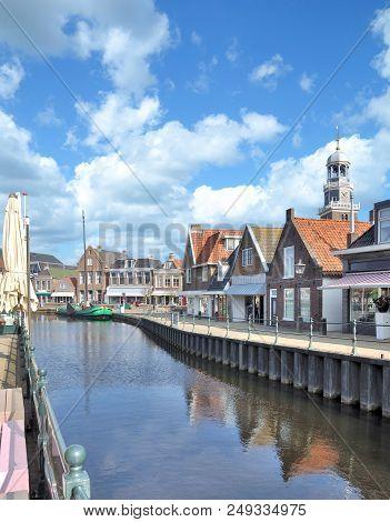 Popular Village Of Lemmer At Ijsselmeer In Frisia Province,netherlands