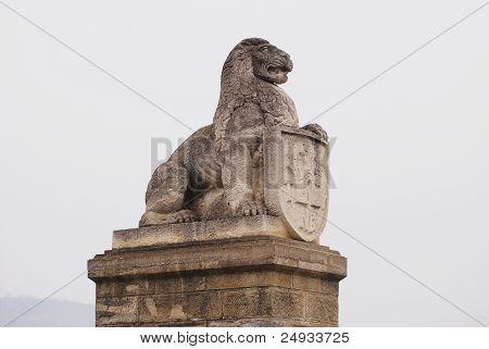 Lion of Tsarevets, Veliko Tarnovo, Bulgaria