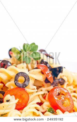 Pasta Aglio Olio Extreme Close Up