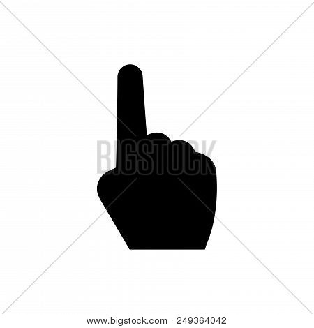 One Finger Vector Icon Flat Style Illustration For Web, Mobile, Logo, Application And Graphic Design