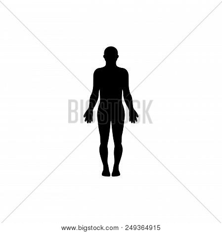 Standing Human Vector Icon Flat Style Illustration For Web, Mobile, Logo, Application And Graphic De