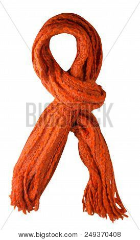 Scarf Isolated On White Background.scarf  Top View . Tirquoise Scarf