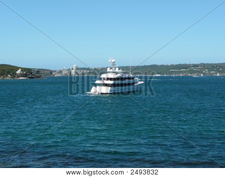 Luxury Cruise Boat At The Beach