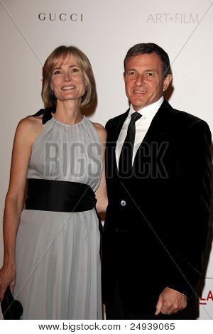 LOS ANGELES - NOV 5:  Willow Bay, Bob Iger arrives at the LACMA Art + Film Gala at LA County Museum of Art on November 5, 2011 in Los Angeles, CA