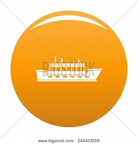 Ship Trip Icon. Simple Illustration Of Ship Trip Vector Icon For Any Design Orange